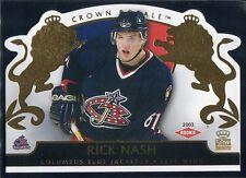 2002-03 Crown Royale 109 Rick Nash Rookie 1694/2299
