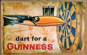 US Blechschild Irish Pub Dart for a Guinness - Größe ca. 43 x 28,5 cm
