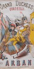 MUSICA_BALLO_QUADRIGLIA_ARBAN_ANTICO SPARTITO MUSICALE_LITOGRAFIA CARICATURALE