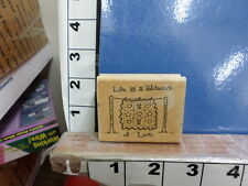 saying life is a patchwork of love rubber stamp 29u