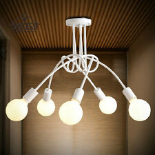 Bedroom White Chandelier Flush Mount Ceiling Light Porch Metal Pendant Lighting