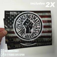 x2 Blm Black Lives Matter Printed Decal Car Truck Window Bumper Sticker Justice