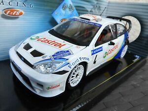 Ford fous wrc martin rallye corse 2003 1/18 solido avec boite