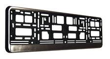 Effetto alluminio numero targa Surround cornice titolare (effetto metallo spazzolato)
