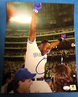 8x10 Photo Autograph Joe Carter. Double Certified. Global &