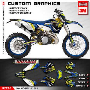 Vinyl Graphics MX Custom Sticker Kit for Husaberg TE 125 250 300 2011 2012 Blue