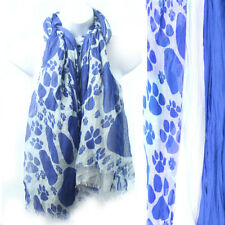 University of Nevada Scarf. Triple Layer Scarf, Blue, Off-White, Wolf Paws.