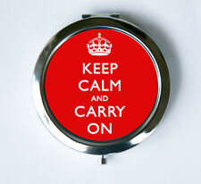 Keep Calm and Carry On RED crown Compact Mirror Pocket Mirror