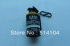 M18 Dummy Smoke Grenade Shape Lighters Windproof Lighter Model Toys Keychain YEL