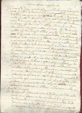 Studio Manoscritto Notizie Storia e Politica Europa Cronaca Fino al 1660