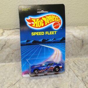 Vintage Hotwheels Blackwall Blue Firebird Funny Car- Punched Speed Fleet Blister
