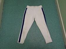 Vintage Sin Marca Blanco Con Azul a Rayas Culotte pirata Pantalones De Béisbol Americano