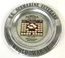 Us Submarine Veterans Wwii Uss Tinosa Ss-283 Commemorative Plate Plaque