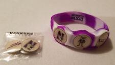 Wrist Skins Golf Ball Marker Bracelet,Northwestern Wildcats, Magnetic,Size L M S