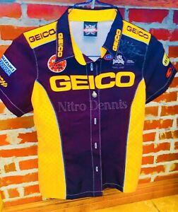 """NHRA KAREN STOFFER Crew Shirt NITRO Pro Stock BIKE Motorcycle """"SIGNED"""" Jersey"""