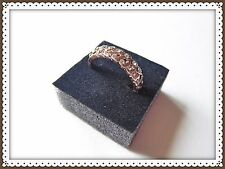 Pretty Ring,Rose Gold Plated,Leaf Design,Fake Crystal,Rhinestone, Fashion,Party