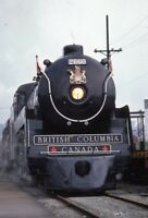 BRITISH COLUMBIA Royal Hudson Railroad Steam Locomotive 260 Original Photo Slide