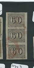 BRAZIL (P2811B) NUMERAL 60    SC 24  VERT STRIP OF 3   VFU  COPY 1