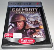 Call of Duty Finest Hour Sony PS2 (Platinum) PAL *Complete*