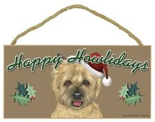 "Happy Howlidays Cairn Terrier Christmas Holiday Dog Sign New 5""x10"" Plaque 748"