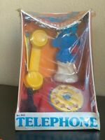Vintage Smurfs Telephone  H G Toys Inc. Peyo 1982 New In Box SEALED  Phone