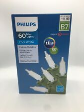 Philips 60 Mini Lights LED Cool White Indoor/Outdoor Wedding Christmas NEW