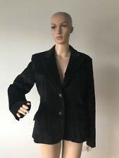 Rafaella Black Corduroy Jacket 2 Button Blazer Cotton/Spandex for Stretch 10 M/L