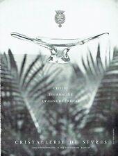PUBLICITE ADVERTISING 037  1963   Cristallerie de Sèvres   tourmaline opaline