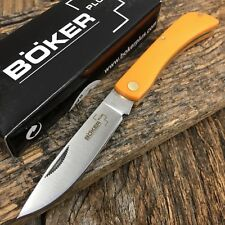 "BOKER PLUS Sodbuster Folding Pocket Knife 3 5/8"" ORANGE Handles NEW BO221"