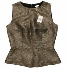 Fossil Womens Sleeveless Camielle Shirt Blouse Vest Metallic Gold NWT