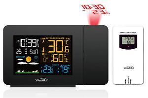 Youshiko Weather Station & Projection Clock Radio Control UK Version