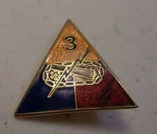 Cold War Era 1960s 3rd Armored Division Insignia Pin C.P. Co. Nyc Charles Polk 1