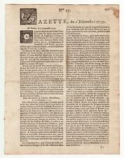1759, dec.1, French Gazette, all the events of the attack and capture of Quebec