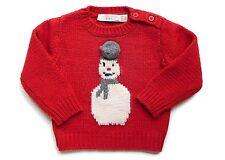 STELLA MCCARTNEY KIDS BABY RED SNOWMAN CHRISTMAS JUMPER *6 MONTHS* NEW *RRP £60*