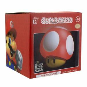 Super Mario Lampe mit Soundfunktion Power-Up Pilz Mushroom