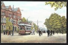 View of People / Tram, London Road, Leicester. Stamp/Postmark - 1904