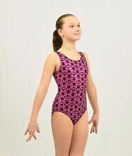 Friends Lock Hearts Gymnastics Leotard Small child(4-6 Years) size, pink/black