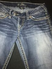 Silver/Tuesday Jean Women Sz.16 1/2 (26x31)-Low Rise Boot-Cotton Bl-L.Blue Denim