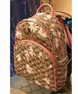 NWT Michael Kors Abbey MD Backpack School Book Bag Peach Floral MK-HOT!!!