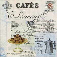 4x Paper Napkins for Decoupage Decopatch Craft Café Collage