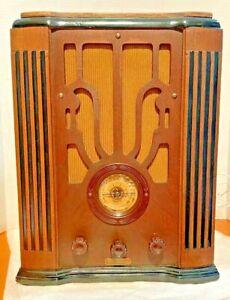 VINTAGE CORONADO TOMBESTONE RADIO ESCUTCHON AND DIAL GLASS! WORKS!!
