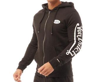 Von Dutch Mens Sig Logo Arm Print Hoodie Black/White Sizes new