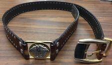 VINTAGE * RARE Authentic GIANNI VERSACE gold & silver studded belt * SZ 48