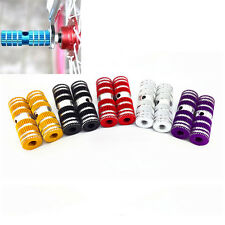 "2pcs Cycling BMX Bike Bicycle Cylinder Aluminum Alloy 3/8"" Axle Foot Pegs  CWAU"