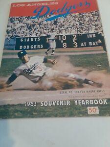 Vintage Original 1963 Los Angeles Dodgers Yearbook Koufax Drysdale