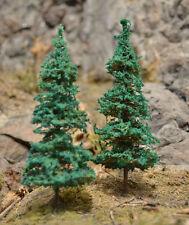 "MOOSE CREEK TREES - Fir Pine Trees (5 pc x 4"" Tall) Conifer Green HO N Z Scales"