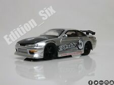 Jada Toys 1:64 1998 NISSAN 240SX S14 Drift car option D sportscar Greddy silver