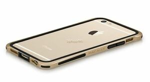 Genuine Macally IronRim Champagne Metallic Frame Case For iPhone 7 6s & 6 New