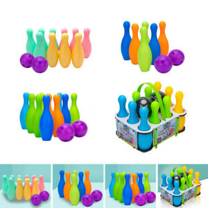 Plastic Bowling Balls Playset for Kids Ages 3+ Toddler Preschoolers Toy
