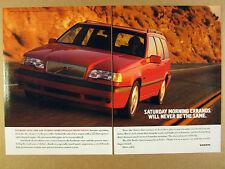 1993 Volvo 850 Turbo Sportswagon red wagon photo vintage print Ad